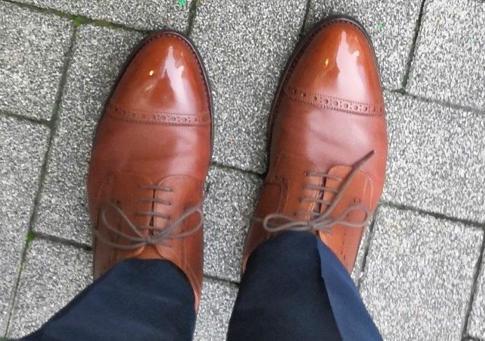 GAKUPLUSで磨いてもらった革靴