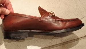 ジャランスリウァヤの革靴(コバ染色後)