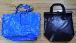 ワークマンプラス ZAT無縫製バッグ  大きさ比較
