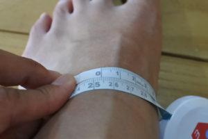 足のサイズ 測定