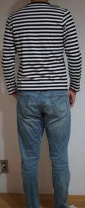 ZOZO マルチサイズ 中細ボーダー長袖Tシャツ